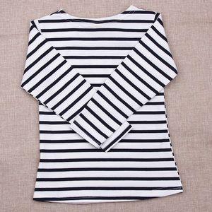 Toddler Kids Striped Long Sleeves Tee - NAVY